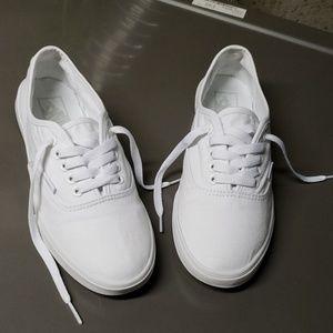 True White 'Authentic Lo Pro' Vans US W-9.5/ M-8.0